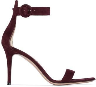 Gianvito Rossi Portofino 85mm suede sandals