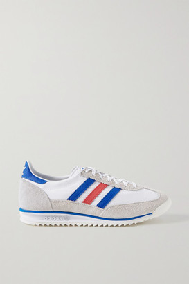 adidas Sl 72 Suede And Leather-trimmed Shell Sneakers - White