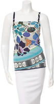 Fuzzi Sleeveless Printed Top w/ Tags