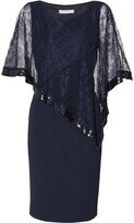 Thumbnail for your product : Gina Bacconi Kamila Lace Cape Dress