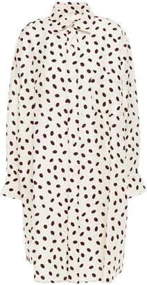 Marni Polka-dot Satin-jacquard Shirt Dress