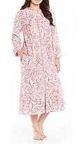 Miss Elaine Petite Damask Luxe Fleece Long Robe