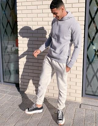 Burton Menswear overhead hoodie in grey