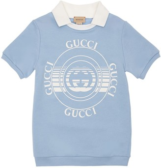 Gucci Printed Cotton Jersey Dress