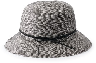Sonoma Goods For Life Women's Faux Suede Tie Cloche Hat