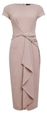 Dorothy Perkins Womens **Luxe Grey Manipulate Crepe Midi Dress, Grey