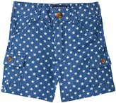 Andy & Evan Star Printed Cargo Shorts (Baby) - Navy 18-24 Months
