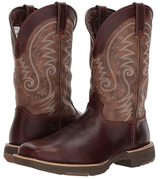 Durango Ultralite 12 Western WP Square Toe (Brown Leather Vintage) Cowboy Boots