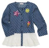 Design History Toddler's & Little Girl's Chambray Cotton Sweater