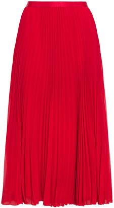 Diane von Furstenberg Angelica Pleated Chiffon Midi Skirt