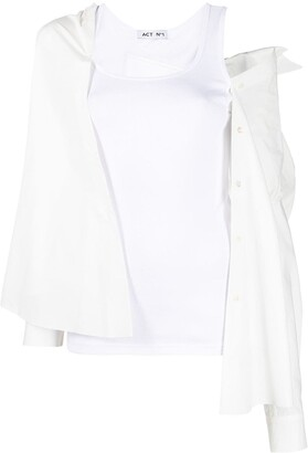 Act N�1 Hybrid Vest Top Blouse