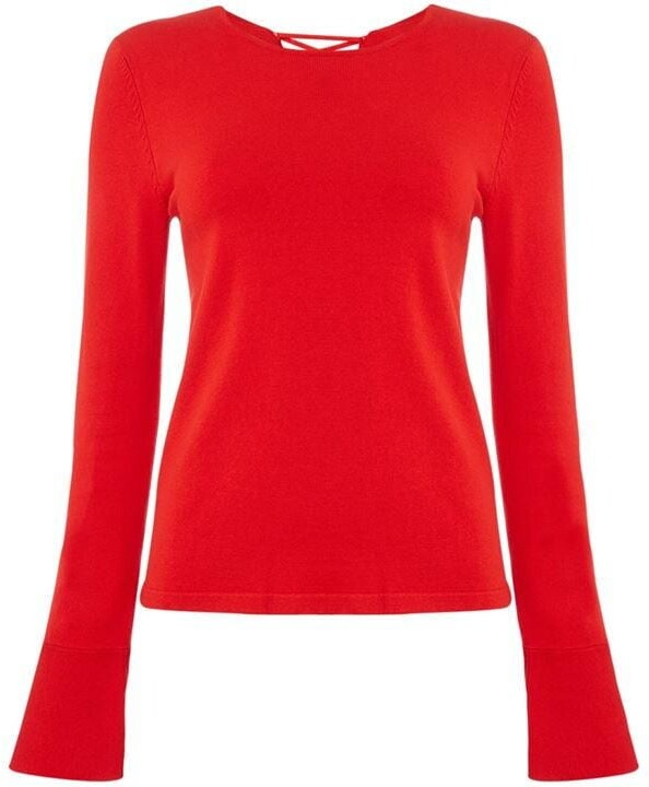 Thumbnail for your product : Oui Frill cuff jumper