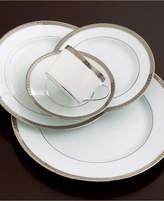 Bernardaud Dinnerware, Athena Platinum Full Rim Design Accent Salad Plate