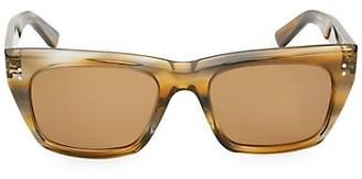 Celine 53MM Animal Print Square Sunglasses