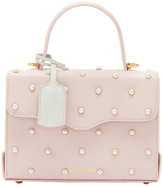 Lulu Guinness Blush Pearl Textured Grain Queenie