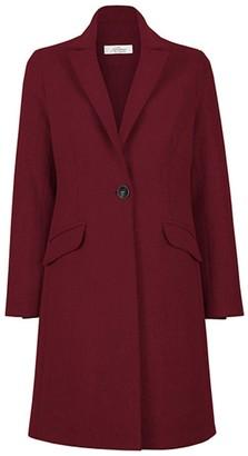 Allora Wool Cashmere Tailored Coat - Bordeaux