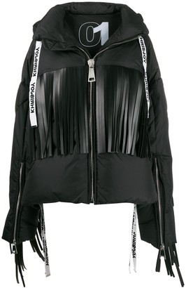 Fringed Oversized Puffer Jacket