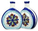 Floral Ceramic Painted Vases (Pair), 'San Antonio Blossom'