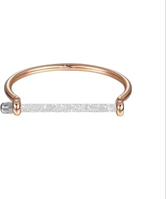 Opes Robur Rose Gold Frosted Screw Cuff Bracelet