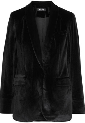 DKNY Metallic Velvet Blazer