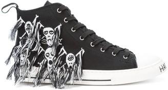 Haculla Skull high-top sneakers
