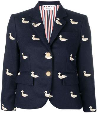 Thom Browne Gold Duck Embroidered Sport Coat