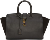 Saint Laurent Black Small Cabas Monogram Bag