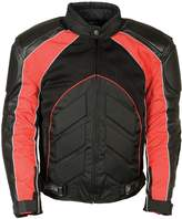 Milwaukee Leather Mens Combo Leather / Textile / Mesh Racer Jacket