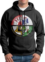 Sarah Men's Boston Red Sox-Bruins-New England Patriots-celtics Clover Hoodie L
