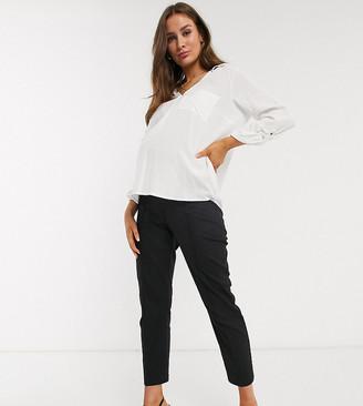 ASOS DESIGN Maternity ultimate linen cigarette trousers