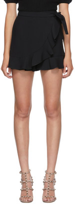 RED Valentino Black Wrap Skort