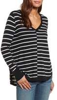 Petite Women's Caslon High-Low V-Neck Sweater