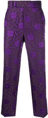 Haider Ackermann Geometric Jacquard Trousers