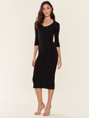 NSF Meadow Scoop Neck Dress