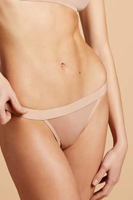 Negative Underwear Silky Thong in Buff