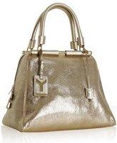 gold cracked leather 'Majorelle' bowler bag