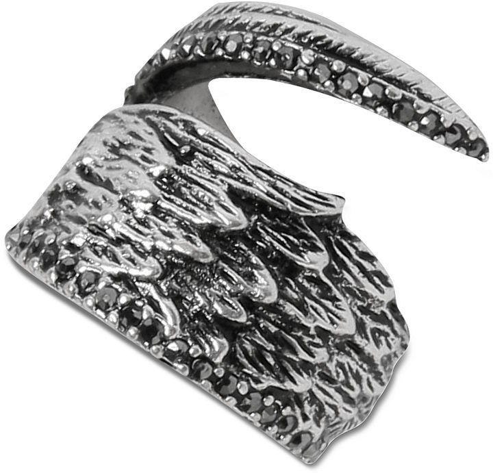Lucky Brand Ring, Silver-Tone Feather Ring