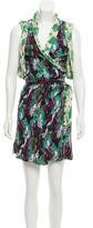 Thakoon Textured Wrap Dress