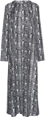 Marni Printed Silk Midi Dress