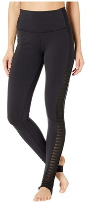 Alo High-Waisted Prism Leggings (Black) Women's Casual Pants