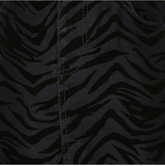 River Island Girls Zebra Flocked Skirt- Black