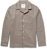 Sleepy Jones - + David Coggins Houndstooth Cotton-flannel Pyjama Shirt