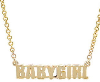Established BABYGIRL Word Yellow Gold Chain Necklace