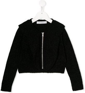 Philosophy di Lorenzo Serafini Kids oversized collar zip cardigan