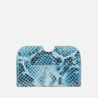Nunoo Women's Carla Snake Wallet - Blue