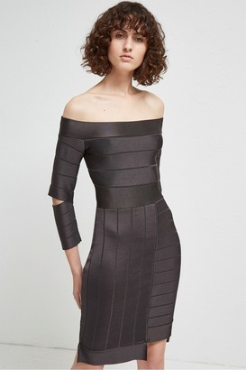 French Connection Anise Spotlight Off The Shoulder Dress