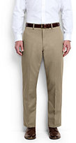 Classic Men's Big & Tall Plain Front Traditional Fit No Iron Chino Pants-Light Stone