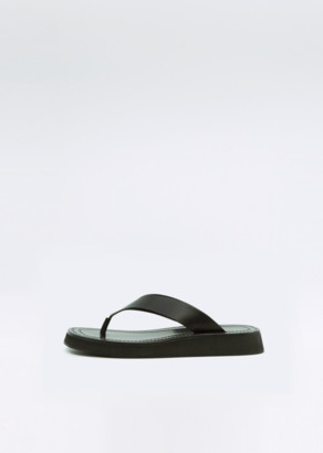 The Row Ginza Sandal Black