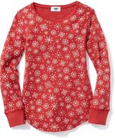 Old Navy Long & Lean Thermal Crew-Neck Tee for Girls