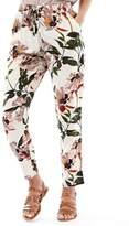 Only Womens Nova Sona Flower Woven Trousers Peyote